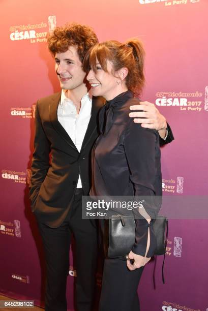 Vincent Lacoste and Albane Cleret attend the Cesar's after party at Le Queen Club on February 24 2017 in Paris France