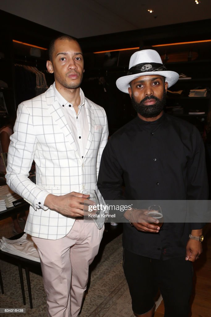 Vincent Lane and Patrick Fello attend Todd Snyder x Akin's Army Collaboration Launch at Todd Snyder Flagship Store on August 17, 2017 in New York City.