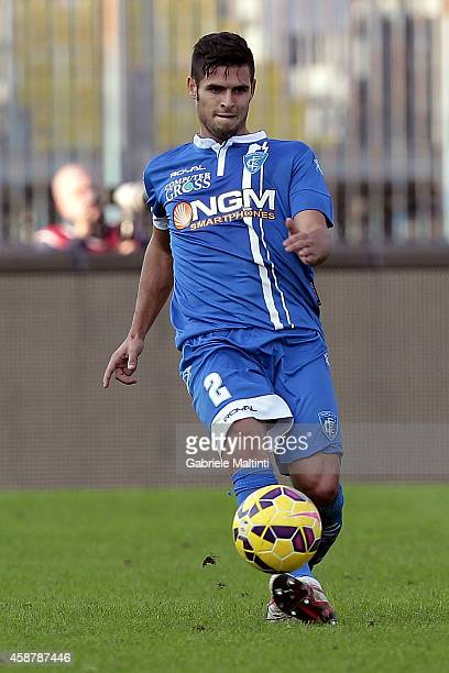 Vincent Laurini of Empoli FC in action during the Serie A match between Empoli FC and SS Lazio at Stadio Carlo Castellani on November 9 2014 in...
