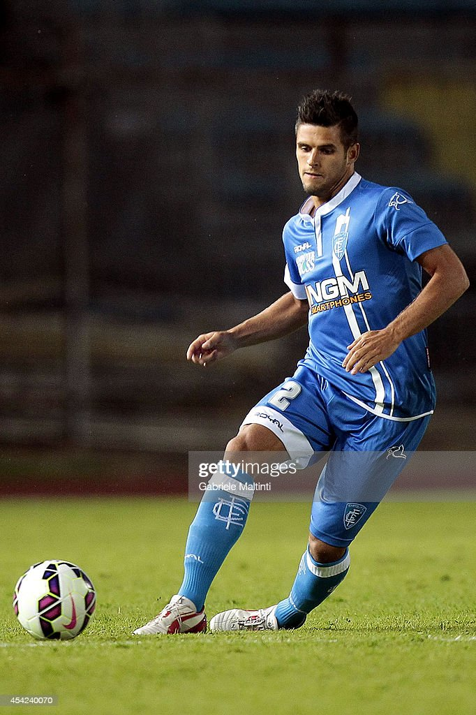 Vincent Laurini of Empoli FC in action during the TIM Cup match between Empoli FC and L'Aquila Calcio at Stadio Carlo Castellani on August 24, 2014 in Empoli, Italy.