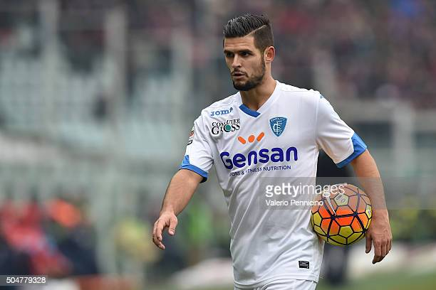 Vincent Laurini of Empoli FC looks on during the Serie A match between Torino FC and Empoli FC at Stadio Olimpico di Torino on January 10 2016 in...