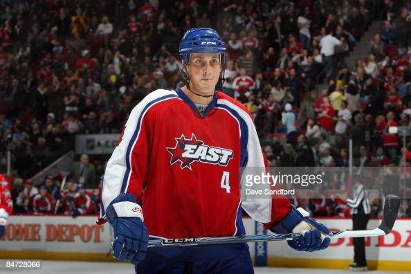 Vincent Lecavalier of the Eastern Conference AllStars looks on during the 2009 NHL AllStar game at the Bell Centre on January 25 2009 in Montreal...