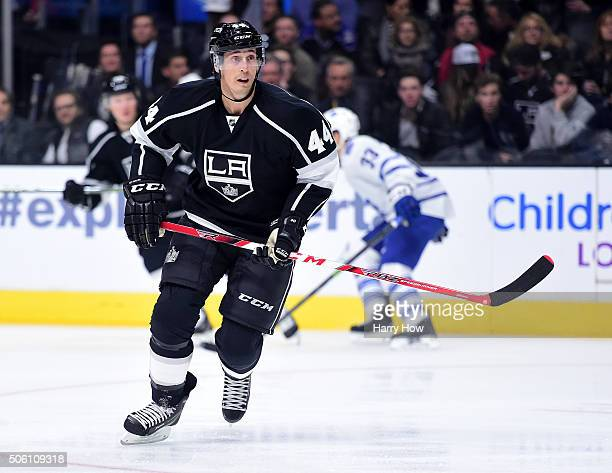 Vincent Lecavalier of the Los Angeles Kings waits for the puck in the slot during the game against the Toronto Maple Leafs at Staples Center on...