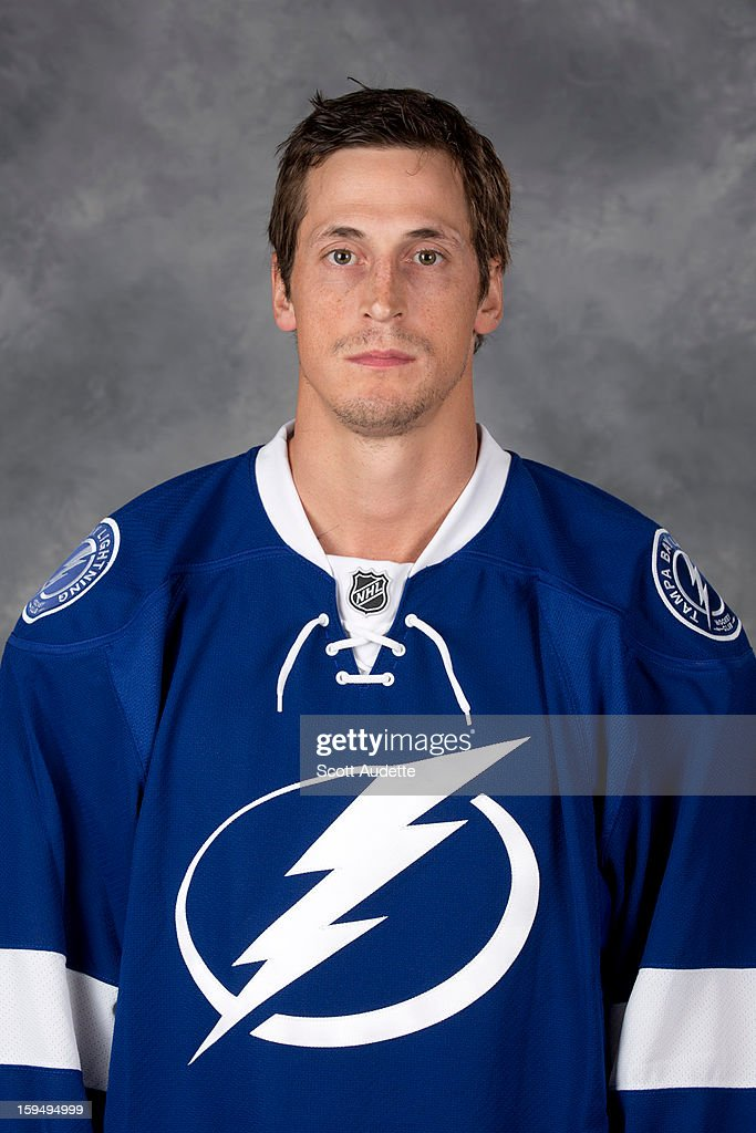 <a gi-track='captionPersonalityLinkClicked' href=/galleries/search?phrase=Vincent+Lecavalier&family=editorial&specificpeople=201915 ng-click='$event.stopPropagation()'>Vincent Lecavalier</a> #4 of the Tampa Bay Lightning poses for his official headshot for the 2012-2013 season at the Tampa Bay Times Forum on January 13, 2013 in Tampa, Florida.