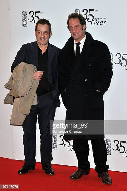 Vincent Lindon and guest attend the 35th Cesar Film Awards at Theatre du Chatelet on February 27 2010 in Paris France