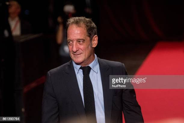 Vincent Lindon arrives at the opening ceremony of 9th Film Festival Lumiere In Lyon on October 14 2017 in Lyon France