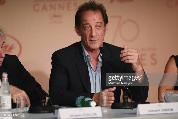 Vincent Lindon attends the 'Rodin' press conference during the 70th annual Cannes Film Festival at Palais des Festivals on May 24 2017 in Cannes...