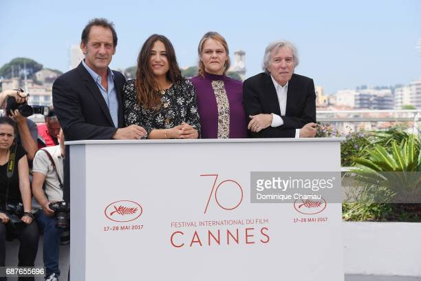 Vincent Lindon Izia Higelin Severine Caneele and Director Jacques Doillon attend the 'Rodin' photocall during the 70th annual Cannes Film Festival at...