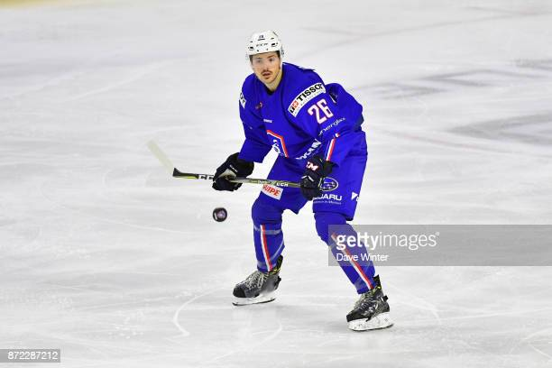 Vincent Llorca of France during the EIHF Ice Hockey Four Nations tournament match between France and Slovenia on November 9 2017 in Cergy France