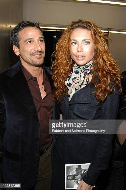 Vincent Longo and Yvonne Scio during Pirelli 2005 Calendar Release Party with Patrick Demarchelier at Tony Shafrazi Gallery in New York City New York...