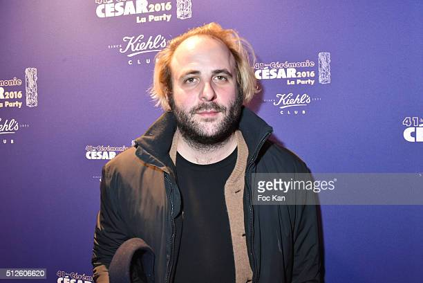 Vincent Macaigne attends a photocall at the Queen Club after The Cesar Film Awards 2016 on February 26 2016 in Paris France