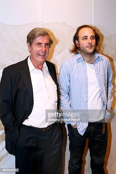 Vincent Macaigne sponsored by Bernard Menez for the movie 'La fille du 14 Juillet' at the Chaumet's Cocktail Party for Cesar's Revelations 2014 at...