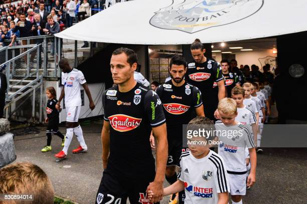 Vincent Manceau of Angers during the Ligue 1 match between Amiens SC and Angers SCO at Stade de la Licorne on August 12 2017 in Amiens