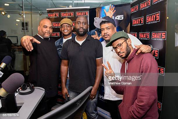 Vincent Mason AKA Maseo Sway Calloway Kelvin Mercer AKA Posdnuos AKA Pos David Jolicoeur AKA Trugoy the Dove and Kaytranada visit 'Sway in the...