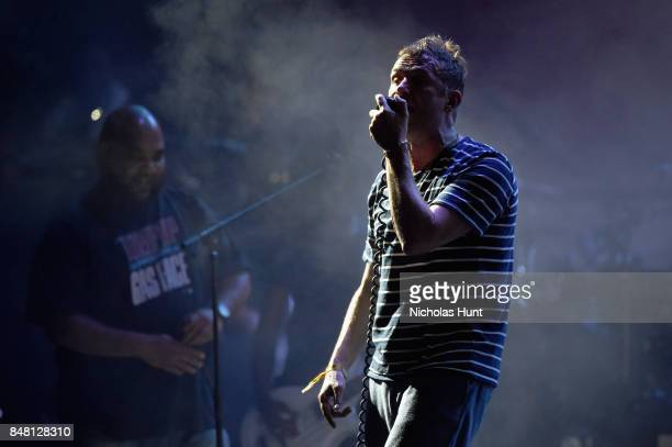 Vincent Mason of De La Soul and Damon Albarn of Gorillaz perform onstage with during the Meadows Music and Arts Festival Day 2 at Citi Field on...