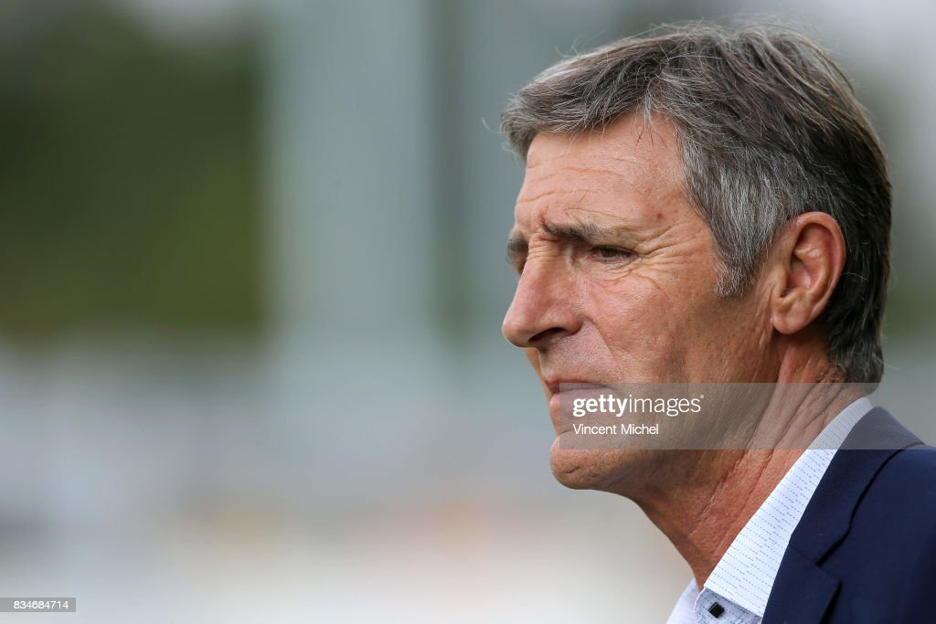 Vincent Merling, president of La Rochelle during the pre-season match between Stade Rochelais and SU Agen on August 17, 2017 in La Rochelle, France.