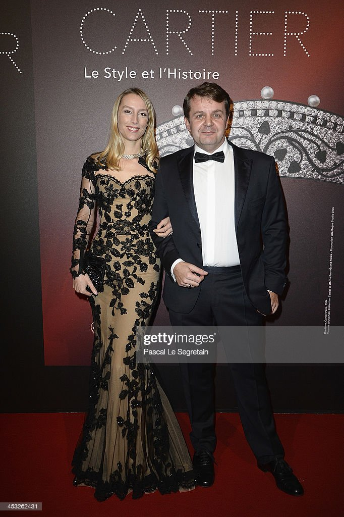 Vincent Meylan and Adelaide De Clermont Tonnerre arrive at the 'Cartier: Le Style et L'Histoire' Exhibition Private Opening at Le Grand Palais on December 2, 2013 in Paris, France.