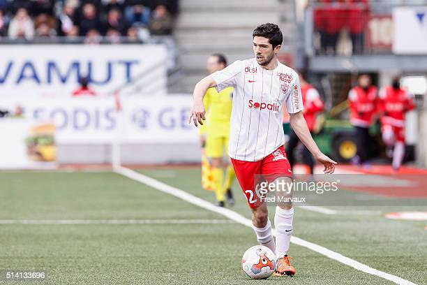 Vincent Muratori of Nancy during the French Ligue 2 match between Nancy and Red Star at Stade Marcel Picot on March 5 2016 in Nancy France