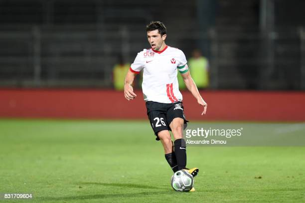 Vincent Muratori of Nancy during the Ligue 2 match between Nimes Olympique and As Nancy Lorraine at Stade des Costieres on August 14 2017 in Nimes