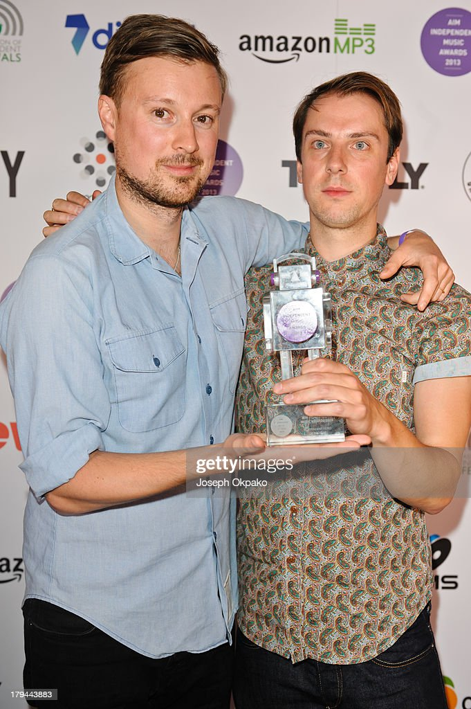 <a gi-track='captionPersonalityLinkClicked' href=/galleries/search?phrase=Vincent+Neff&family=editorial&specificpeople=7187845 ng-click='$event.stopPropagation()'>Vincent Neff</a> and Jimmy Dixon of Django Django attend the AIM Independent Music Awards at The Brewery on September 3, 2013 in London, England.