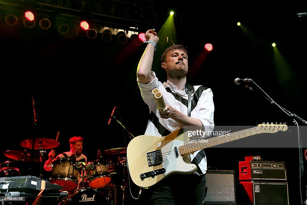 <a gi-track='captionPersonalityLinkClicked' href=/galleries/search?phrase=Vincent+Neff&family=editorial&specificpeople=7187845 ng-click='$event.stopPropagation()'>Vincent Neff</a> of Django Django performs during the 2013 Bonnaroo Music & Arts Festival on June 13, 2013 in Manchester, Tennessee.
