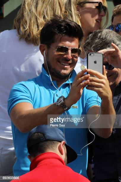 Vincent Niclo is spotted at Roland Garros on June 5 2017 in Paris France