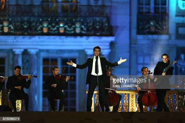 Vincent Niclo performs during Fete de La Musique at Versailles Palace
