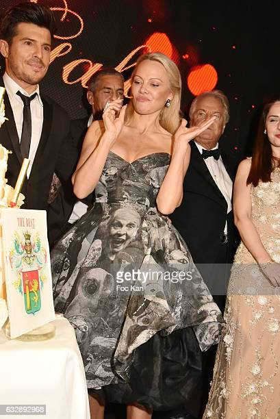 Vincent NicloPamela Anderson attend 'The Best Award Gala 40th Edition' at Four Seasons George V Hotel on January 27 2017 in Paris France