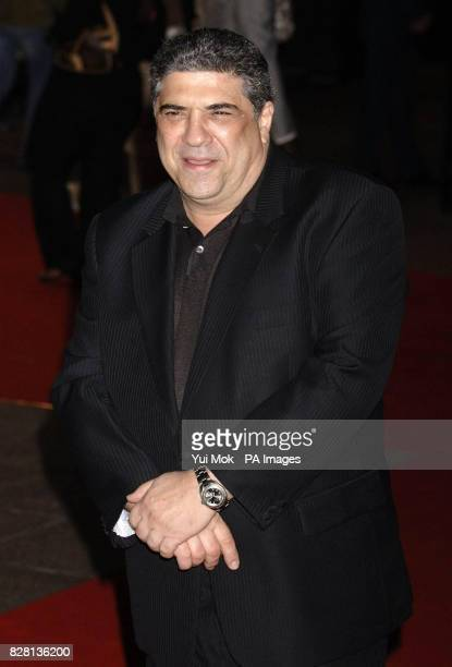 Vincent Pastore arrives at the UK premiere of his new film 'Revolver' at the Odeon Leicester Square central London Tuesday September 20 2005 PRESS...