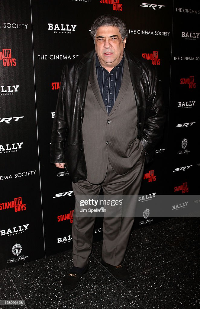 <a gi-track='captionPersonalityLinkClicked' href=/galleries/search?phrase=Vincent+Pastore&family=editorial&specificpeople=215270 ng-click='$event.stopPropagation()'>Vincent Pastore</a> attends The Cinema Society With Chrysler & Bally premiere of 'Stand Up Guys' at Museum of Modern Art on December 9, 2012 in New York City.