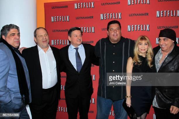 Vincent Pastore Harvey Weinstein Ted Sarandos Steve Schirripa Maureen Van Zandt and Steve Van Zandt attend Premiere Event for LILYHAMMER a NETFLIX...