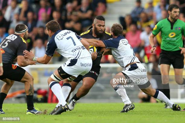 Vincent Pelo of La Rochelle during the preseason match between Stade Rochelais and SU Agen on August 17 2017 in La Rochelle France