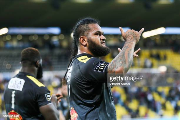 Vincent Pelo of La Rochelle during the Top 14 match between Stade Rochelais and Oyonnax Rugby at La Rochelle on September 23 2017 in France