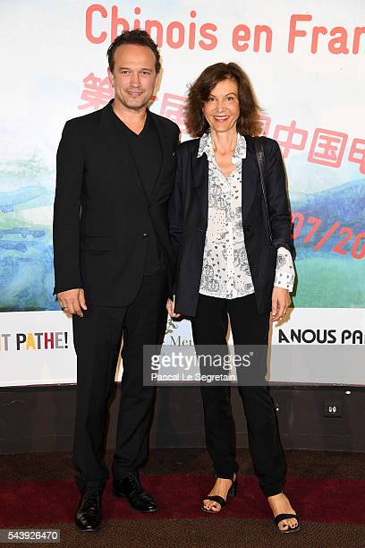 Vincent Perez and Anne Fontaine attend the 6th Chinese Film Festival Photocall at Cinema Gaumont Marignan on June 30 2016 in Paris France