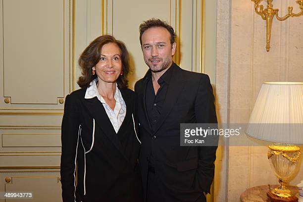 Vincent Perez and director Anne Fontaine attend the 4th Paris Chinese Film Festival Press Conference at Hotel Meurice on May 12 2014 in Paris France