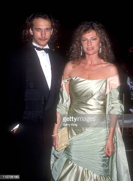 Vincent Perez and Jackie Bisset during 61st Annual Academy Awards Governor's Ball at Shrine Auditorium in Los Angeles California United States