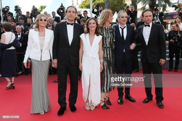 Vincent Perez director Olivier Assayas Delphine De Vigan Camille Chamoux Alexandre Desplat and Dominique Lemonnier attend the 'Based On A True Story'...
