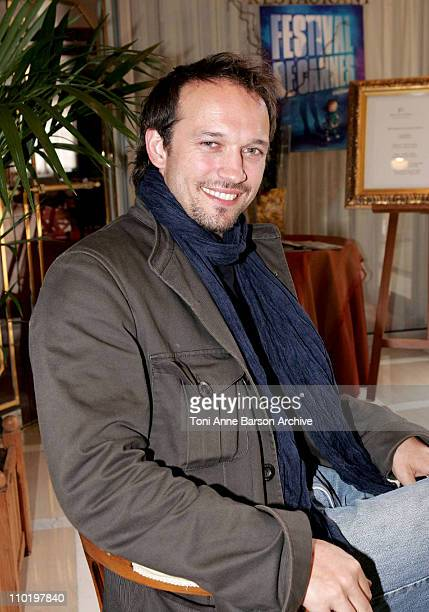 Vincent Perez during 2004 Cannes Film Festival Vincent Perez 'Bienvenue En Suisse' Photo Session for Voguepariscom at Palais Des Festivals in Cannes...