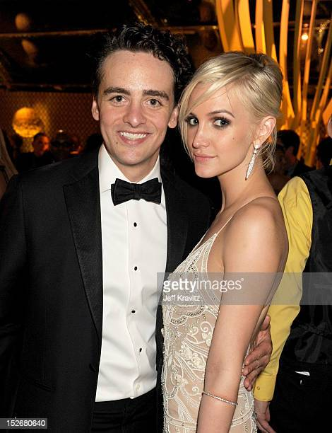 Vincent Piazza and Ashlee Simpson attend HBO's Official Emmy After Party at The Plaza at the Pacific Design Center on September 23 2012 in Los...