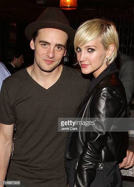 Vincent Piazza and Ashlee Simpson attend the Nylon Magazine dinner at Catch on September 13 2011 in New York City