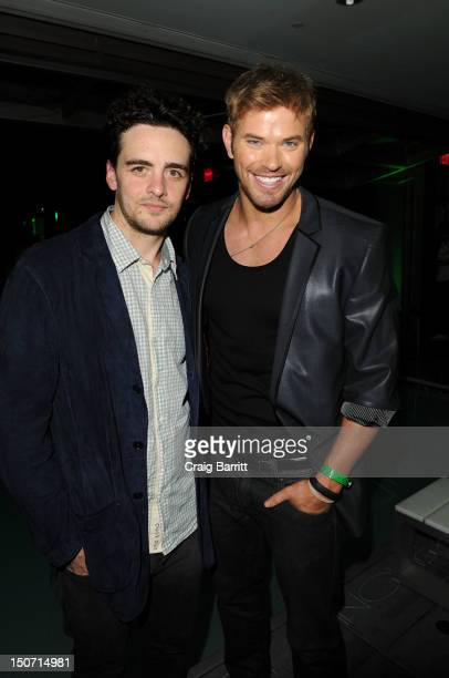 Vincent Piazza and Kellan Lutz attends the Heineken 2012 US Open Player Party at the Gansevoort Park Hotel on August 24 2012 in New York City