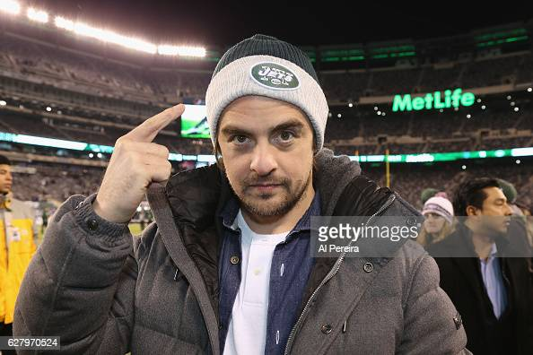 Vincent Piazza attends the New York Jets vs Indianapolis Colts Monday Night Football game at Met Life Stadium on December 5 2016 in New York City