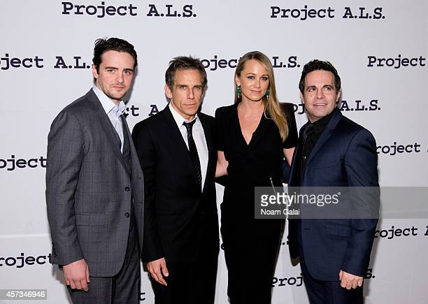 Vincent Piazza Ben Stiller Christine Taylor and Mario Cantone attend the 16th Annual Tomorrow Is Tonight Gala Benefiting Project ALS at Cipriani 42nd...