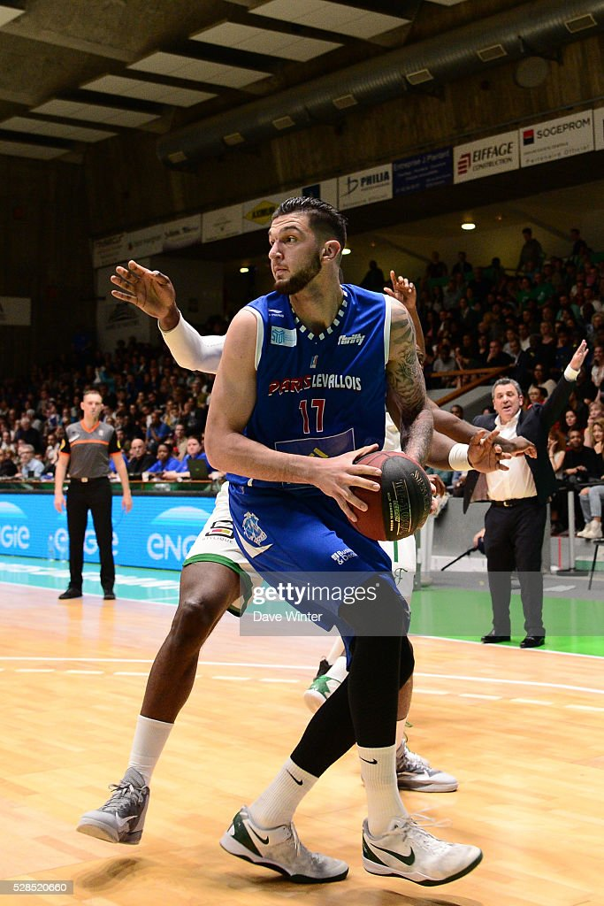 Vincent Poirier of Paris Levallois during the basketball French Pro A League match between Nanterre and Paris Levallois on May 5, 2016 in Nanterre, France.
