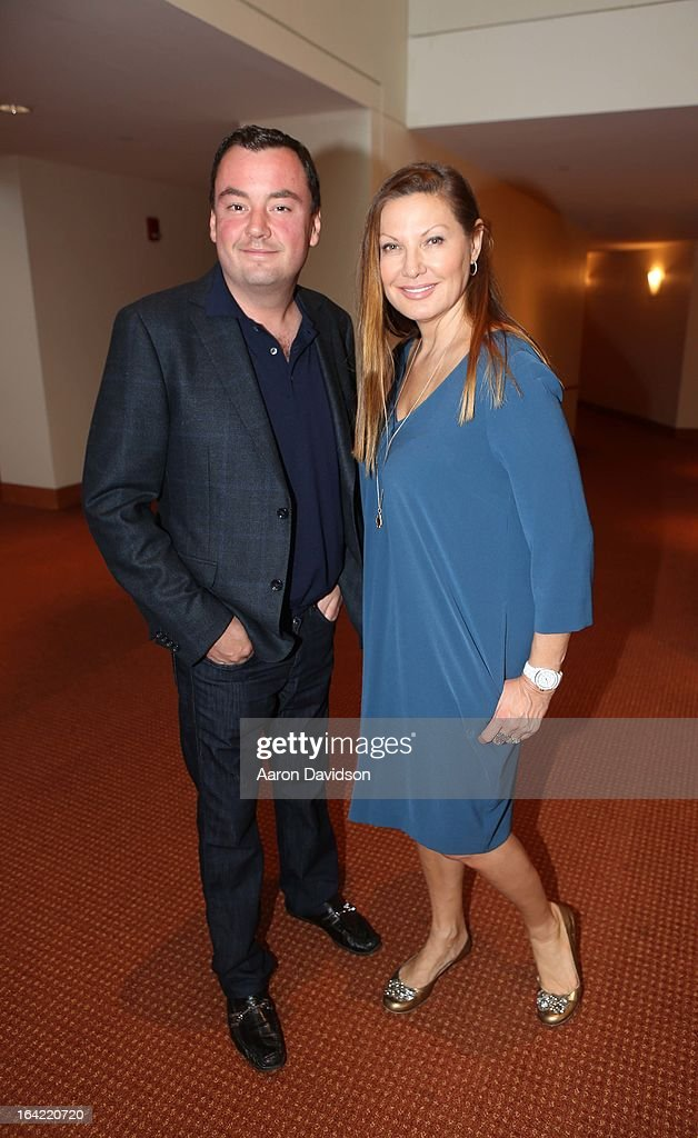 Vincent Poulin and Lilliana Komorowska attend the opening night screening of 'Free Angela' during the 2013 Women's International Film and Arts Festival at Adrienne Arsht Center on March 20, 2013 in Miami, Florida.