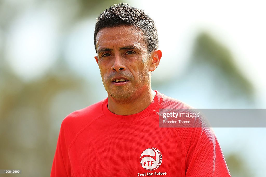 Vincent Simon of Tahiti looks on during the friendly match between Sydney FC and Tahiti at Macquarie Uni on February 6, 2013 in Sydney, Australia.