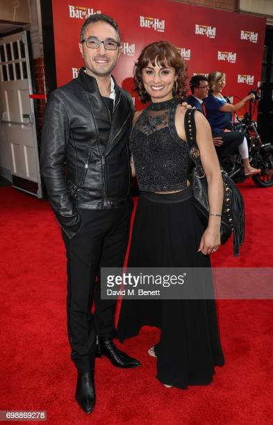 Vincent Simone and Flavia Cacace attends the press night performance of 'Bat Out Of Hell The Musical' at The London Coliseum on June 20 2017 in...