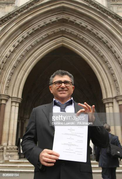 Vincent Tchenguiz is seen outside the Royal Courts of Justice London after a High Court judge refused to strike out claims totalling more than 1...