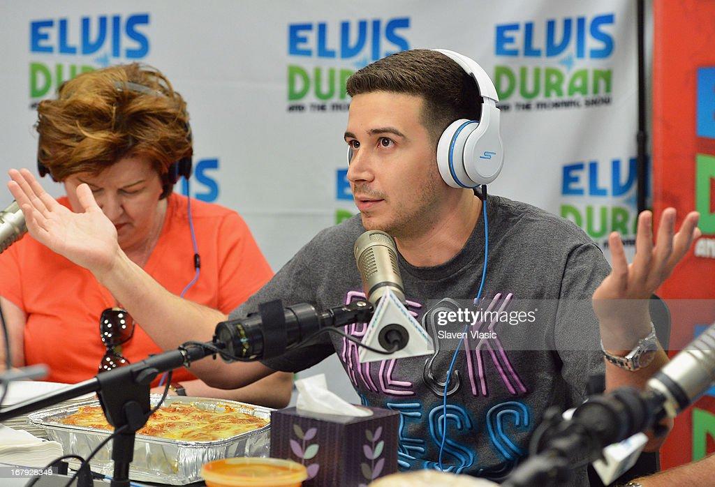 APPLY Vincent 'Vinny' Guadagnino visits Elvis Duran Z100 Morning Show at Z100 Studio on May 2, 2013 in New York City.