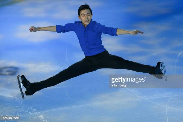 Vincent Zhou of the United States performs during exhibition program of Audi Cup of China ISU Grand Prix of Figure Skating 2017 at Beijing Capital...